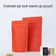 5 Colors Matte Aluminum Foil Stand Up Zip Bags Mylar Food Packaging Lock Pouches