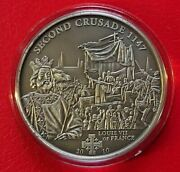 Cook Islands 2010 5 2nd Crusade - Louis Vii Of France Silver Coin