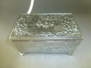 Vintage Swiss Music Box Silver Tone Metal Jewelry Play 2 Songs Watch Video