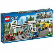 Lego 60132 Service Station City Town Gas Pumps Tow Truck Kiosk Lift Car Wash New