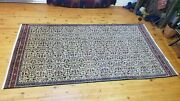 Antique 1900-1930s Floral Turkish Hereke Rug 5and039 Andtimes 9and0398