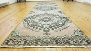Primitive Vintage 1950-1960and039s Natural Dye Wool Pile Runner Rug 3and0392andtimes 13and0394