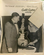 Original Late 1950s Guild Guitar Advertising Promo Photo Red Newmark