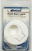 Attwood 11859-7 Nautical Flush Slam Latch - Fits Up To 7/8 Door - White