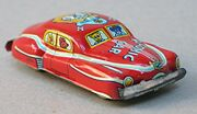 Vintage 1950's Tin Red Comic Car Made In Japan
