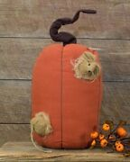 New Primitive Autumn Country Pumpkin W/ Mouse Thanksgiving Decor By Honey And Me