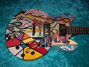 Wild Hand Painted Epiphone Dot Electric Guitar Es 335 Semi Hollow Vintage
