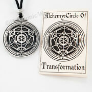 Alchemical Necklace Magic Of Alchemy Circle Transformation Pendant