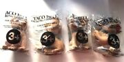 Taco Bell Talking Chihuahua Set Lot Of 4 Applause Dog Advertising New Sealed
