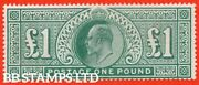 Sg. 266. M55. Andpound1.00 Dull Blue - Green. A Super Unmounted Mint Example . B43314