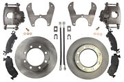 14 Bolt Disc Brake Conversion Kit Srw W/ Candc Hubs With Steel Braided And Parkin