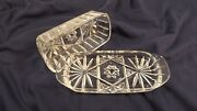 Vintage Anchor Hocking Cut Glass Butter Dish - Star Of David - Eapc