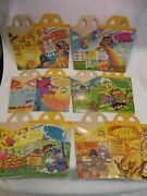 Vintage 1981 Happy Meal Boxes - Adventures Of Ronald Mcdonald Full Set Of 6 Nos