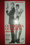 View To A Kill 1985 Roger Moore 007 James Bond Grace Jones Exyu Movie Poster