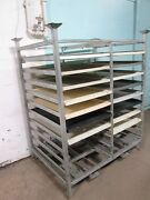 Cumberland H.d. Commercial Bakery Pans/poly Trays Double Wide Steel Rack