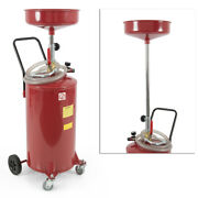 20 Gallon Oil Drain Air Operated Oil Waste Drainage Lift Tank W/ Wheel And Hose Hd