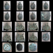 Collection Of X10 Antique Bronze African Tribal Items - Congo Ghana Etc.
