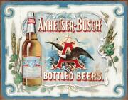 Anheuser Busch - Bottled Beers Metal Tin Sign , 16x12 By Poster Discount