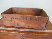 Antique Primitive Wooden Proctor Gamble Naphtha Soap Box Wood Crate P And G