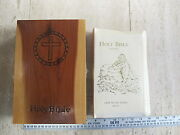 New American Holy Bible Light Of The World Catholic Edition With Cedar Wood Box
