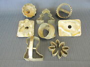Vintage Tin Cookie Cutters 8 Cutters Item 4