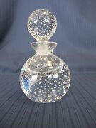 Hand Crafted Lead Crystal Controlled Bubbles 6 Perfume Bottle