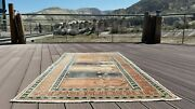 Beautiful 1950-1960s Vintage Wool Pile Natural Dye Prayer Rug 3andrsquo4andrdquox 6andrsquo4andrdquo