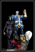 Sideshow Thanos And Lady Death Mistress Death Exclusive Polystone Diorama Marvel