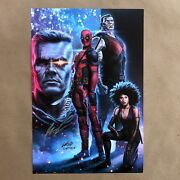 Rob Liefeld Signed Deadpool 2 Art Print Poster Autograph Marvel Comic Capprotti