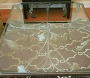 Ethan Allen Coffee Table Wrought Iron Tuscan Leaves Glass Top Local Pickup Only