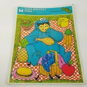 1979 Whitman Muppets Sesame Street Cookie Monsters Picnic Frame Tray Puzzle Vtg