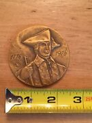 1776- 1976 New York State Official Bicentennial Antique Bronze Large Medal