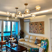 Dimmer Glass Bubble Lampshade Chandelier Branching Ceiling Pendant Lamp Lighting