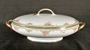 Union Ceramique Fb And Co Limoges Oval Covered Serving Bowl