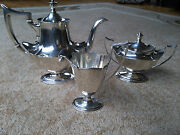 Gorham Plymouth Sterling Silver .925 3-piece Tea / Coffee Set - Exceptional