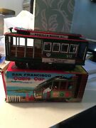 Unknown Maker Japan Tin Friction San Francisco Cable Car Action Toy V Rare Mib