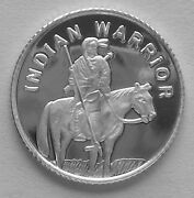 100 1 Gram .999 Pure Silver Rounds Of The Indian Warrior