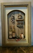 Wine Winery Cafe Shadow Box Framed Picture Shabby Chic Tuscan Farmhouse