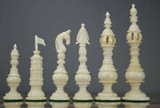 Camel Bone Luxury Intricately Carved Collector Chess Pieces Set-free Shippingcnc