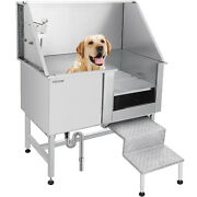 50 Pet Grooming Tub Dogs Cat Bath Tub Professional Stainless Steel Wash Shower