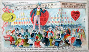 Uncle Sam Columbian Exposition Trade Card Hub Gore Makers--excellent 1893