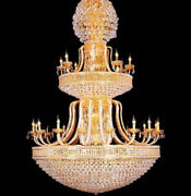 New European Court Style Villa Stairs K9 Crystal Ceiling Lamps Chandeliers Lamps