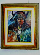 David W. Jackson Original Oil Painting Authentic Worn With Honor Signed Cc39