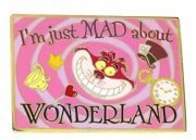 Rare Le 100 Disney Auction Pin✿ Alice Cheshire Cat Iand039m Just Mad About Wonderland