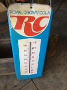 Vintage 24 Rc Royal Crown Soda Cola Thermometer Working Metal Sign