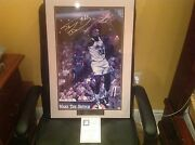 Shaquille O'neal Magic Autographed Auto Signed 14x22 Photo Framed Limited To200