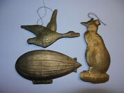 Old Russian Christmas Toy Vintage Soviet Dresden Cardboard 1930 Airship Penguin