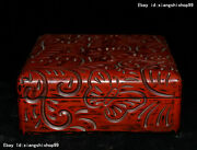 7 Old Chinese Carved Lacquerware Tihong Craftwork Casket Jewel Box Jewelry Boxes