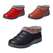 Women Student Winter Snow Boots Waterproof Leather Ankle Warm Plush Peas Shoes T