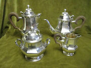 Early 20th C French Sterling Silver Tea Coffee Set Louis Xiv St Lappara 2276gr
